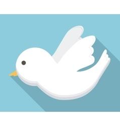Dove white bird animal cartoon icon vector