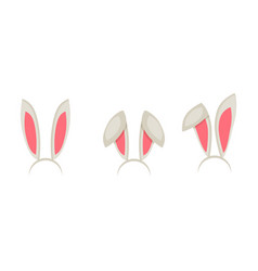 Easter bunny ears mask cartoon vector