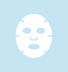 facial mask flat design icon vector image