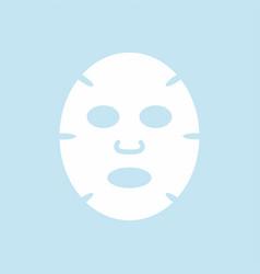 Facial mask flat design icon vector