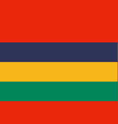 Flag in colors of mauritius image vector