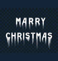 frozen text marry christmas vector image