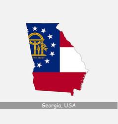 georgia usa map flag vector image