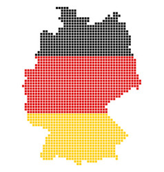 German colors dot germany map vector