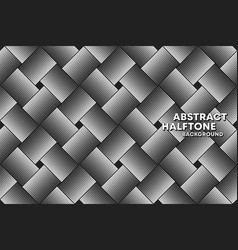 halftone seamless pattern background template vector image
