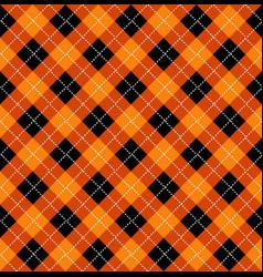 Halloween argyle seamless pattern design vector