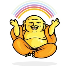 Happy Buddha Rainbow vector