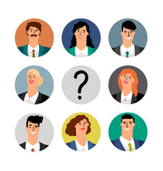 hiring concept business team avatars vector image