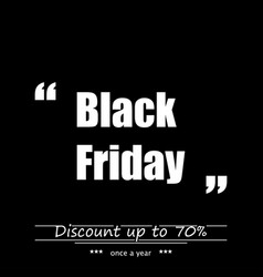 holiday black thursday discount up to 70 percent vector image