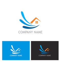 home water logo vector image