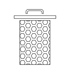 Honeycomb icon outline style vector image