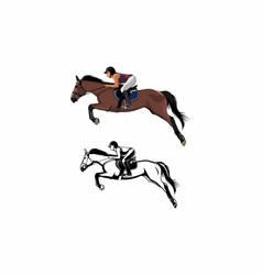 horseback riding vector image