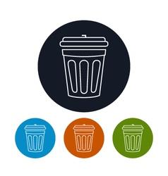 Icon dustbin vector