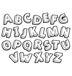 Image with alphabet theme 4 vector
