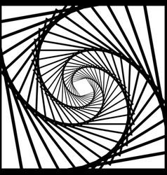 Inward rotating spirally squares abstract vector