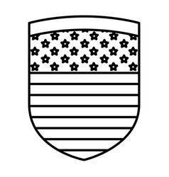 Isolated usa shield design vector