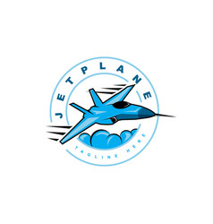 jet symbol logo design template vector image