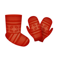 Knitted set vector