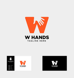 Minimal wletter initial hand logo template icon vector
