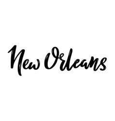 new orleans usa handwritten calligraphy vector image