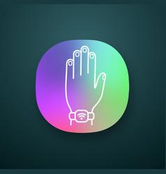 nfc bracelet app icon vector image