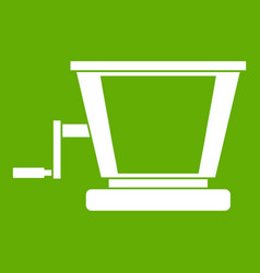 old grape juicer icon green vector image