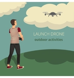 On the theme of launch drone vector