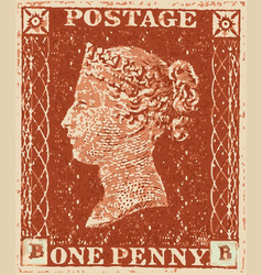 Penny red vector