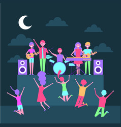 people music celebration vector image