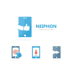 phone and like logo combination mobile vector image