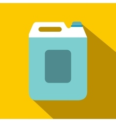 Plastic canister flat icon with shadow vector