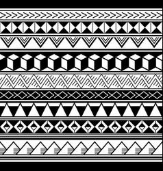 polynesian geometric seamless pattern vector image