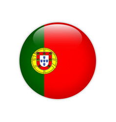 portugal flag on button vector image