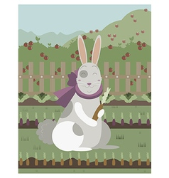 rabbit with a carrot vector image