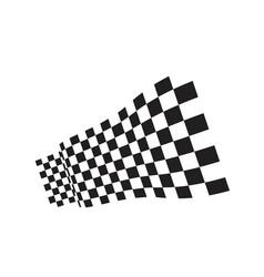 race flag icon design vector image