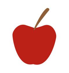 Red apple fruit fresh nutrient vitamins food vector