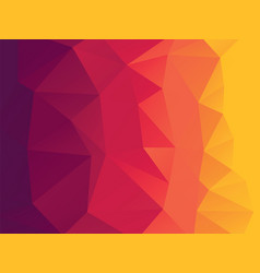 red orange geometric background with triangles vector image