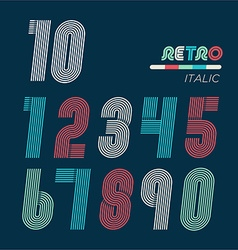 Retro fun numbers vector image