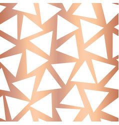 Rose gold foil triangle seamless background vector