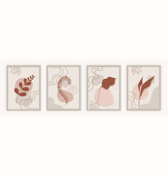 set botanical wall art posters vector image