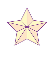 shiny star and merry christmas symbol vector image