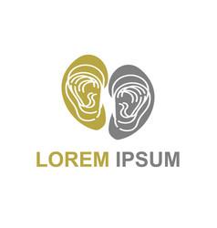simple line art urology medical company logo vector image
