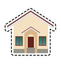Single house icon image vector