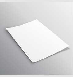 Single leaflet page mockup template design vector