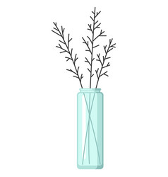 Stylized of vase with flowers image vector