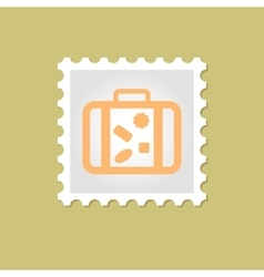 Suitcase stamp vector image