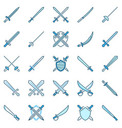 sword creative icons crossed swords and vector image