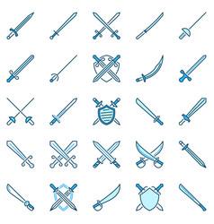 sword creative icons crossed swords vector image