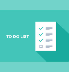 to do checklist or planning list tasks vector image