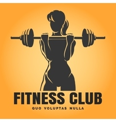 Training Woman Fitness Club emblem vector image